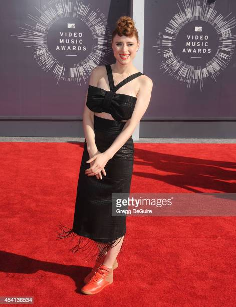 Singer Kiesza arrives at the 2014 MTV Video Music Awards at The Forum on August 24 2014 in Inglewood California