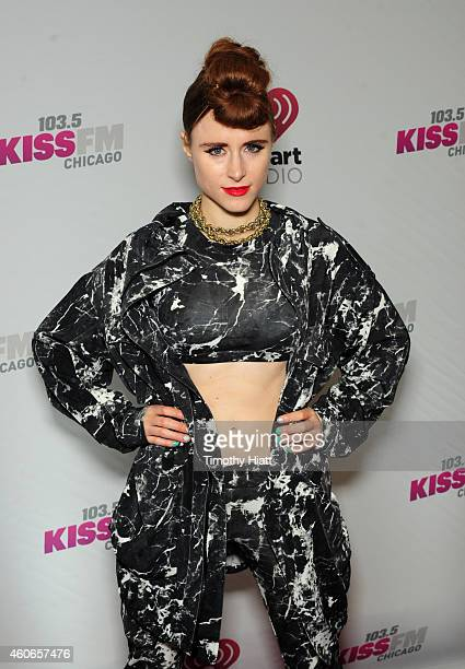 Singer Kiesza attends 1035 KISS FM's Jingle Ball 2014 at Allstate Arena on December 18 2014 in Chicago Illinois