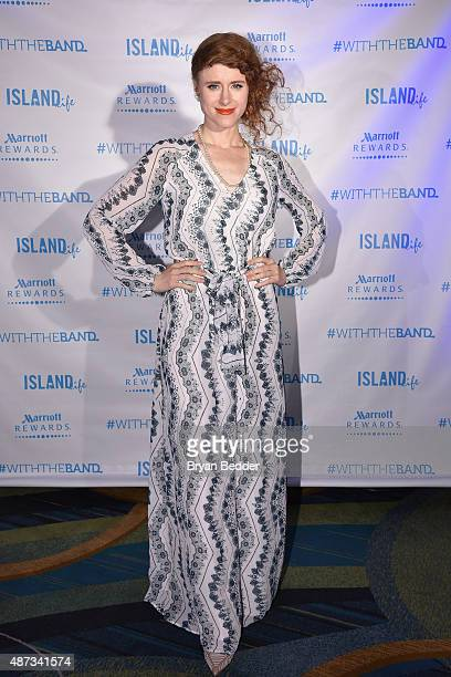 Singer Kiesza attends the Island Records and Marriott Rewards after party for ISLAND LIFE featuring Nick Jonas Shawn Mendes American Authors Kiesza...