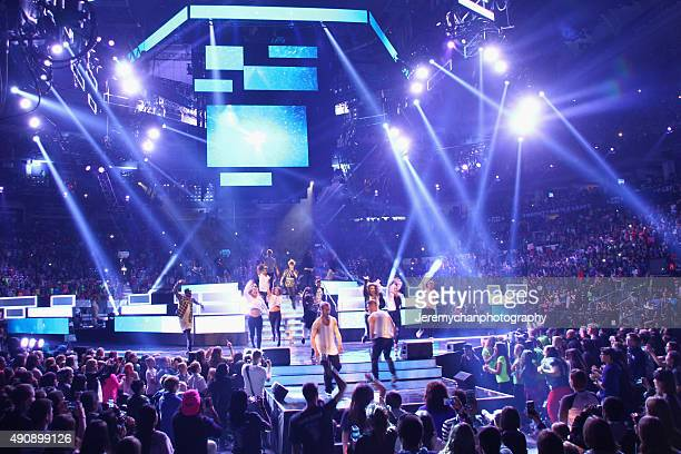 Singer Kiesza performs during WE Day Toronto at the Air Canada Centre on October 1 2015 in Toronto Canada