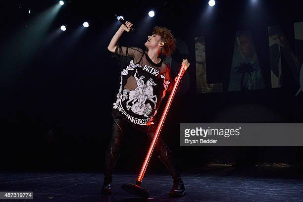 Singer Kiesza performs onstage during the Island Records and Marriott Rewards presentation of ISLAND LIFE featuring Nick Jonas Shawn Mendes American...