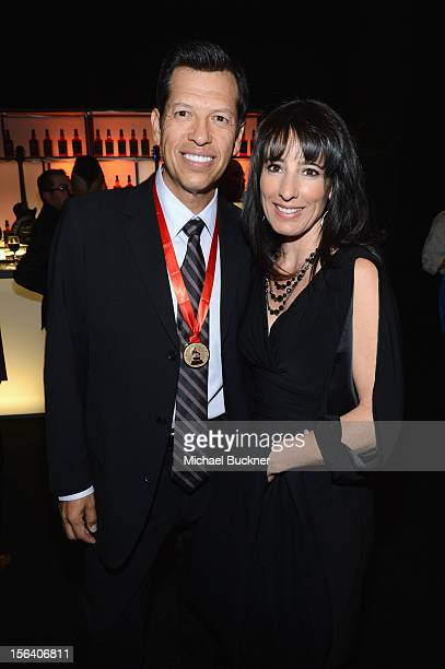 Singer Kiko Cibrian and Vicky Cibrian during the 2012 Person of the Year honoring Caetano Veloso at the MGM Grand Garden Arena on November 14 2012 in...