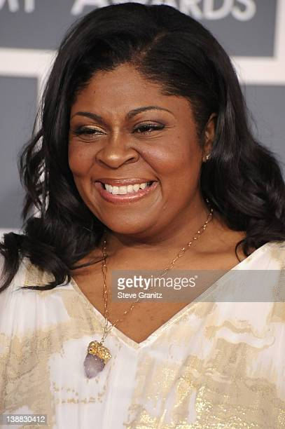 Singer Kim Burrell arrives at The 54th Annual GRAMMY Awards at Staples Center on February 12 2012 in Los Angeles California