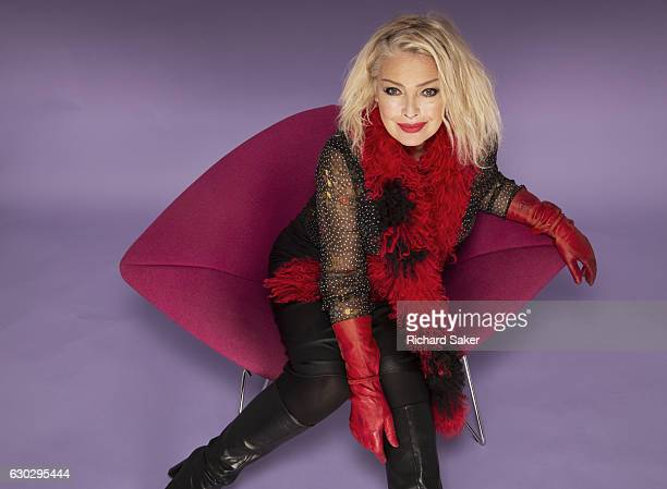 Singer Kim Wilde is photographed for the Observer on November 10 2015 in London England
