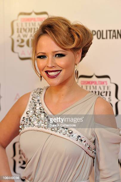 Singer Kimberley Walsh arrives for the 'Cosmopolitan Ultimate Women Of The Year Awards 2010' at Banqueting House on November 2 2010 in London England