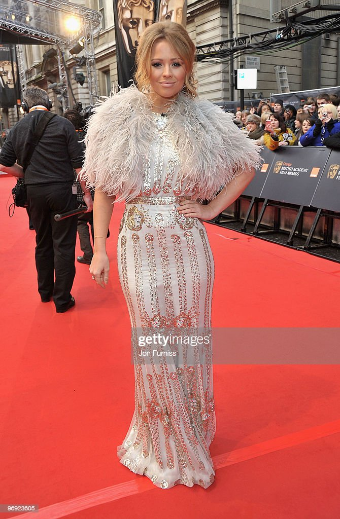 Singer Kimberley Walsh from Girls Aloud attend the Orange British Academy Film Awards 2010 at the Royal Opera House on February 21, 2010 in London, England.