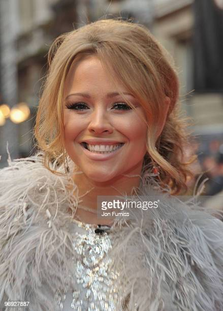 Singer Kimberley Walsh from Girls Aloud attends the Orange British Academy Film Awards 2010 at the Royal Opera House on February 21 2010 in London...
