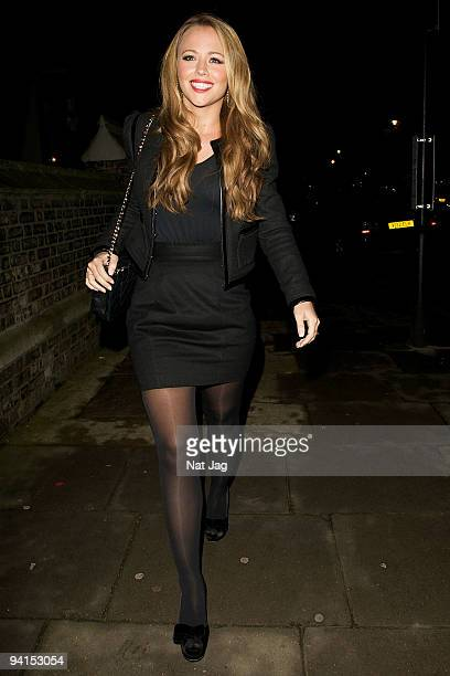 Singer Kimberley Walsh is seen in Knightsbridge on December 8 2009 in London England