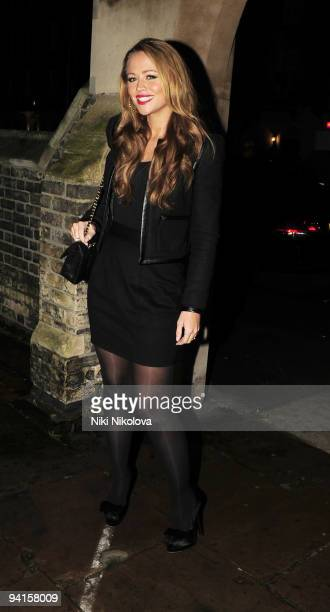 Singer Kimberley Walsh is seen on December 8 2009 in London England