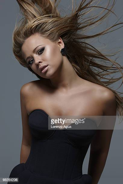 Singer Kimberley Walsh poses for a portrait shoot in London on August 4 2009