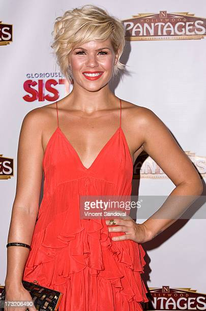 Singer Kimberly Caldwell attends the Los Angeles opening night of 'Sister Act' at the Pantages Theatre on July 9 2013 in Hollywood California