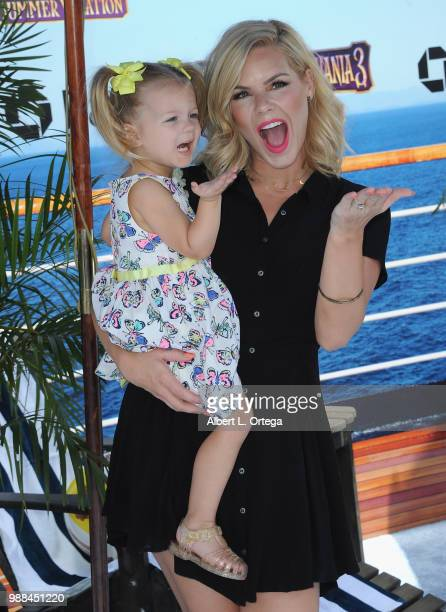 Singer Kimberly CaldwellHarvey and daughter Harlow Monroe Harvey arrives for Columbia Pictures And Sony Pictures Animation's World Premiere Of Hotel...