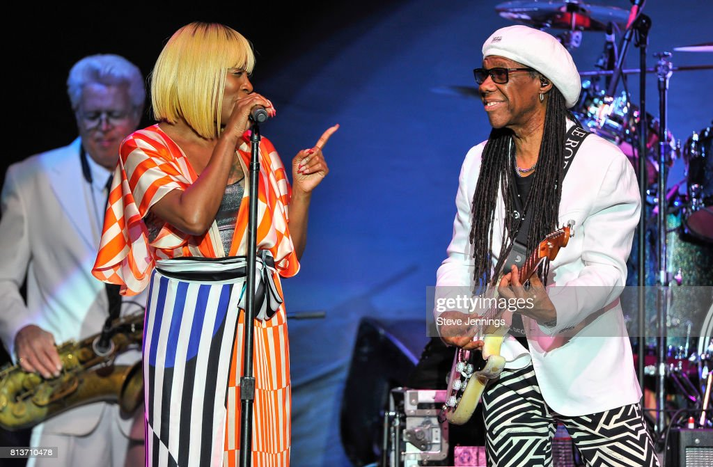 Singer Kimberly Davis And Nile Rodgers Of Chic Perform On Opening