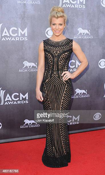 Singer Kimberly Perry of The Band Perry arrives at the 49th Annual Academy Of Country Music Awards at the MGM Grand Hotel and Casino on April 6 2014...