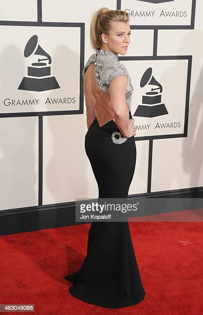 Singer Kimberly Perry of The Band Perry arrives at the 57th GRAMMY Awards at Staples Center on February 8 2015 in Los Angeles California