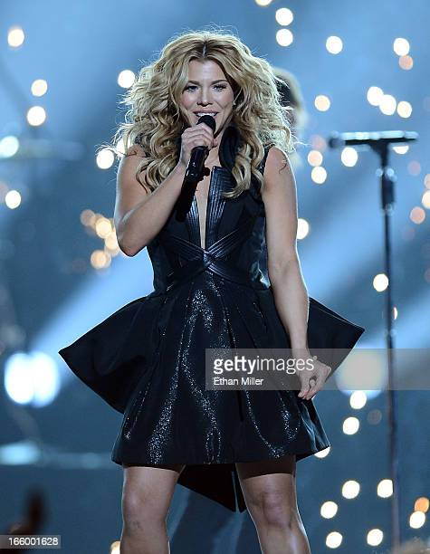 Singer Kimberly Perry of The Band Perry performs onstage during the 48th Annual Academy of Country Music Awards at the MGM Grand Garden Arena on...