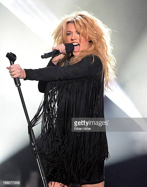 Singer Kimberly Perry of The Band Perry performs onstage during the 2013 Billboard Music Awards at the MGM Grand Garden Arena on May 19 2013 in Las...