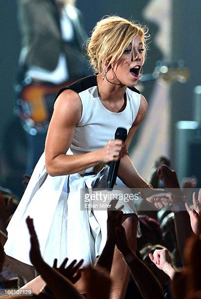 Singer Kimberly Perry of The Band Perry performs onstage during Tim McGraw's Superstar Summer Night presented by the Academy of Country Music at the...