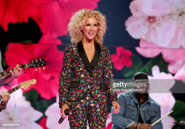 Singer Kimberly Roads Schlapman of Little Big Town performs onstage during the 52nd Academy of Country Music Awards at TMobile Arena on April 2 2017...