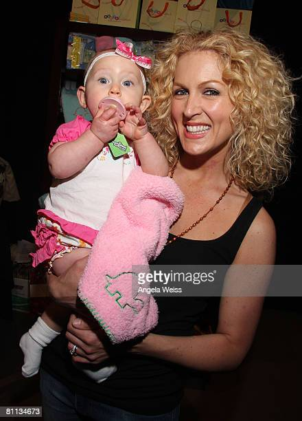 Singer Kimberly Schlapman of the band Little Big Town and her baby Daisy attend the Backstage Creations celebrity retreat held during the 43rd...