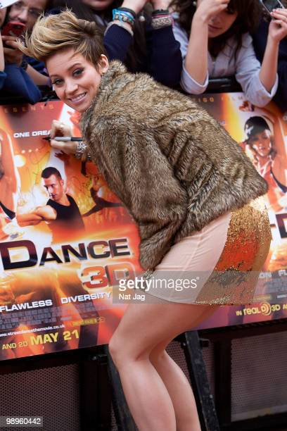 Singer Kimberly Wyatt attends the World Premiere of StreetDance 3D at Empire Leicester Square on May 10 2010 in London England