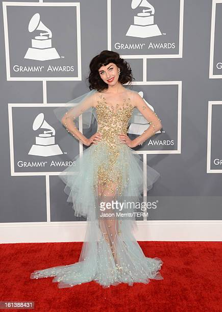 Singer Kimbra arrives at the 55th Annual GRAMMY Awards at Staples Center on February 10 2013 in Los Angeles California