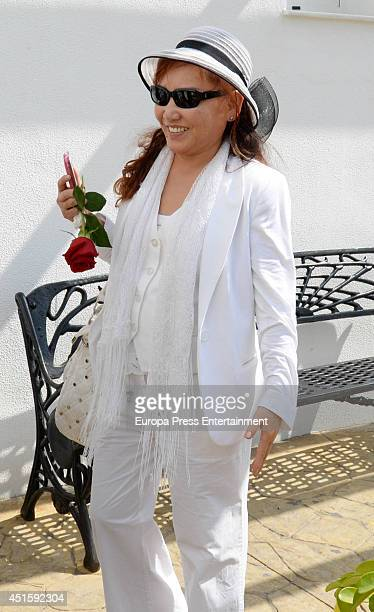 Singer Kimera attends the cremation of Raymond Nakachian on June 19 2014 in Estepona Spain