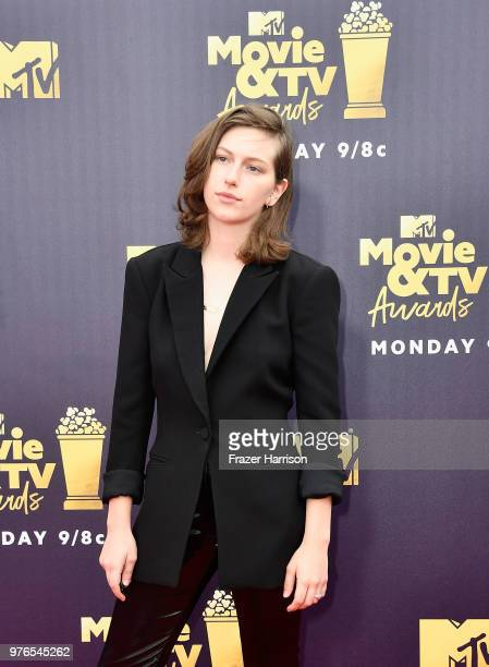 Singer King Princess attends the 2018 MTV Movie And TV Awards at Barker Hangar on June 16 2018 in Santa Monica California