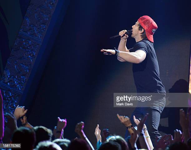 Singer Kip Moore performs onstage during the 2012 American Country Awards at the Mandalay Bay Events Center on December 10 2012 in Las Vegas Nevada