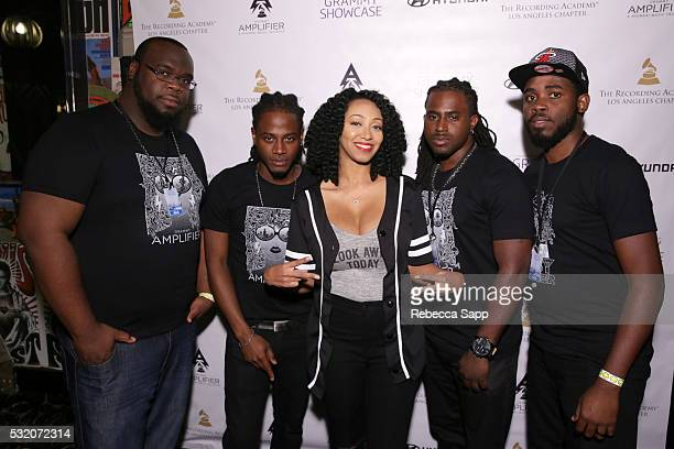 Singer Kirby Maurier and her band attend Los Angeles GRAMMY Showcase at The Fonda Theatre on May 17 2016 in Los Angeles California
