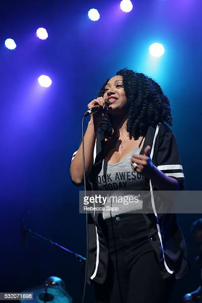Singer Kirby Maurier performs at Los Angeles GRAMMY Showcase at The Fonda Theatre on May 17 2016 in Los Angeles California