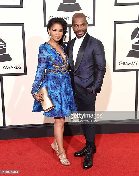 Singer Kirk Franklin and Tammy Collins attend The 58th GRAMMY Awards at Staples Center on February 15 2016 in Los Angeles California