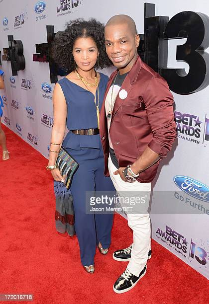 Singer Kirk Franklin and Tammy Collins attend the Ford Red Carpet at the 2013 BET Awards at Nokia Theatre LA Live on June 30 2013 in Los Angeles...