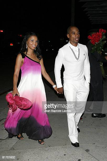 Singer Kirk Franklin and wife sighting in Beverly Hills on June 24 2008 in California