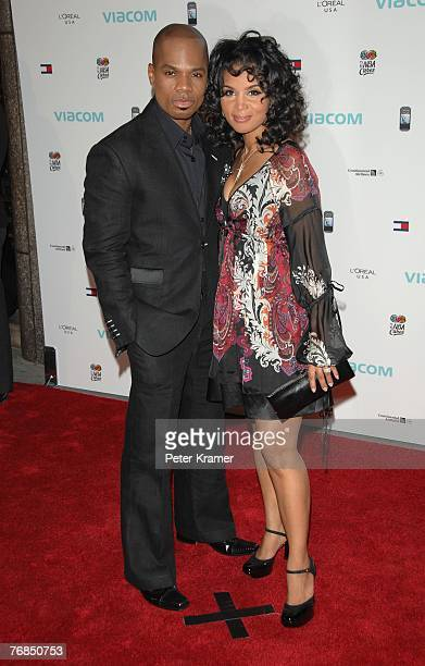 Singer Kirk Franklin and wife Tammy Franklin attend The Dream Concert presented by Viacom to benefit Martin Luther King Jr National Memorial at Radio...