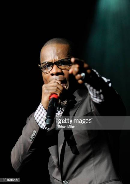 Singer Kirk Franklin onstage during the ninth annual Ford Hoodie Awards at the Mandalay Bay Events Center August 13, 2011 in Las Vegas, Nevada.