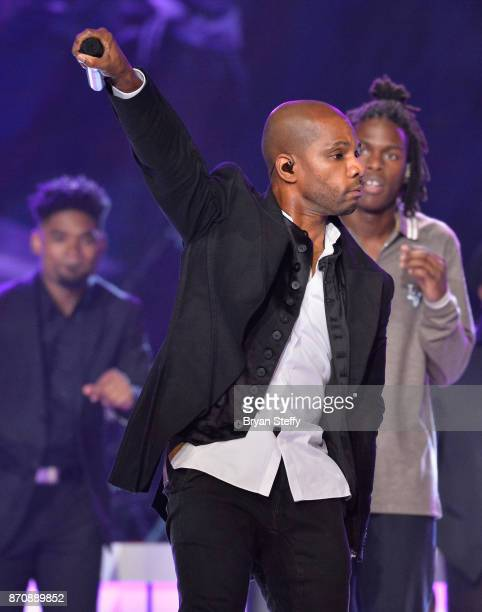 Singer Kirk Franklin performs during the 2017 Soul Train Music Awards at the Orleans Arena on November 5 2017 in Las Vegas Nevada