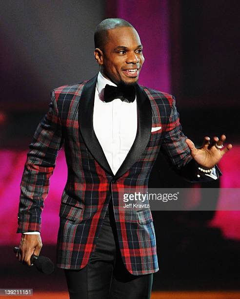 Singer Kirk Franklin performs onstage at the 43rd NAACP Image Awards after party held at The Shrine Auditorium on February 17 2012 in Los Angeles...