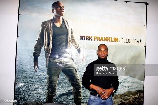 Singer Kirk Franklin poses for photos during The Experience With Kirk Franklin at the Harold Washington Cultural Center in Chicago Illinois on MAR 23...