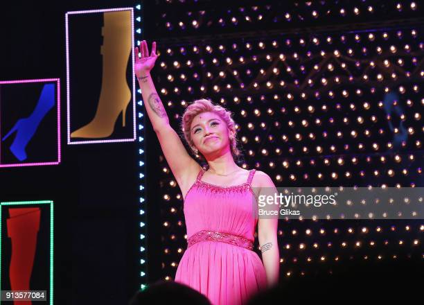 Singer Kirstin Maldonado of Pentatonix makes her broadway debut in the musical 'Kinky Boots' on Broadway at The Al Hirschfeld Theatre on February 2...