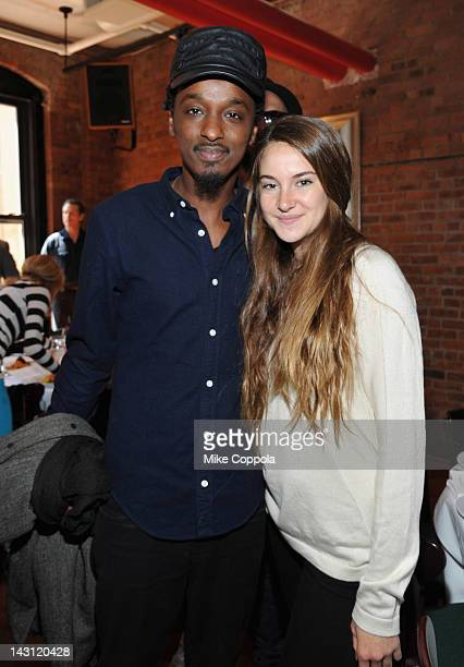 Singer K'naan and actress Shailene Woodley attend the 2012 Tribeca Film Festival Jury lunch at the Tribeca Grill Loft on April 19 2012 in New York...
