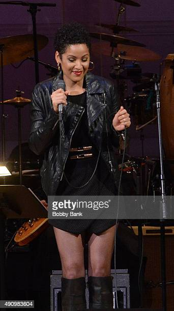 Singer Kori Withers performs at Lean On Him A Tribute To Bill Withers at Carnegie Hall on October 1 2015 in New York City