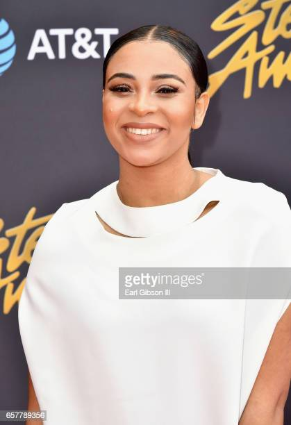 Singer Koryn Hawthorne arrives at the 32nd annual Stellar Gospel Music Awards at the Orleans Arena on March 25, 2017 in Las Vegas, Nevada.