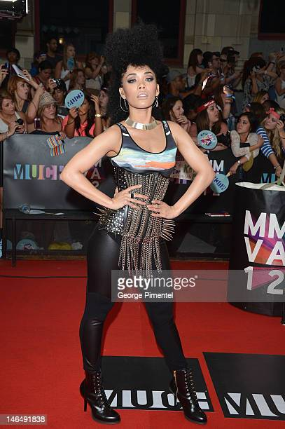 Singer Kreesha Turner arrives on the red carpet of the 23rd Annual MuchMusic Video Awards at MuchMusic HQ on June 17, 2012 in Toronto, Canada.