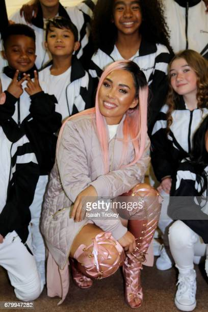 Singer Kreesha Turner poses with dancers from Jade's Hip Hop Academy at the 2017 Cut Hip Hop Awards at Queen Elizabeth Theatre on May 6 2017 in...