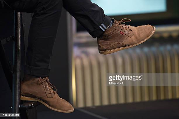 Singer Kris Allen shoe detail attends the AOL Build Speaker Series to discuss his new album Letting You In at AOL Studios In New York on March 18...