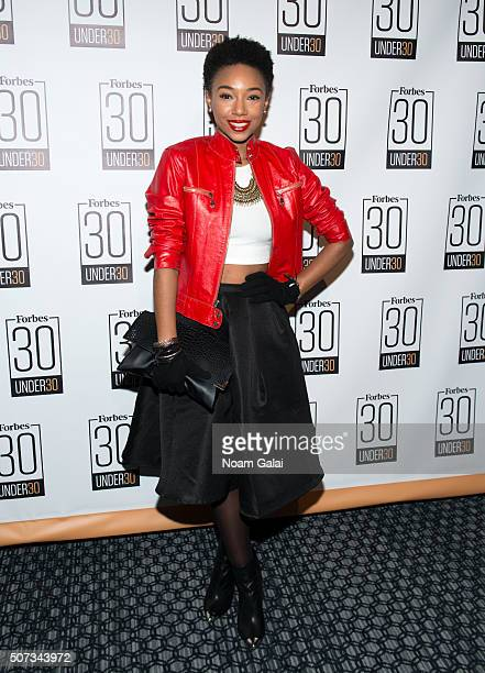 Singer Kriss Mincey attends the Forbes 30 Under 30 cocktail reception at Forbes Building on January 28 2016 in New York City
