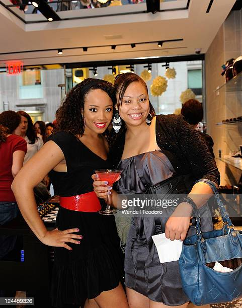 Singer Krissi Luv and Keturah Burnette attend the OC Concept Store during Fashion's Night Out on September 8 2011 in New York City