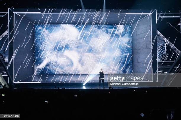 Singer Kristian Kostov representing Bulgaria performs the song 'Beautiful Mess' during the rehearsal for ''The final of this year's Eurovision Song...