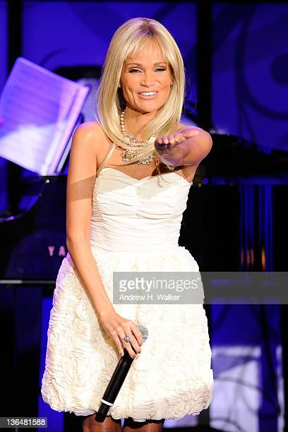 Singer Kristin Chenoweth performs onstage at the VH1 Save The Music Foundation 2010 Gala at Cipriani Wall Street on November 8, 2010 in New York City.